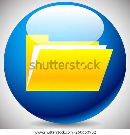 Open Folder Icon - stock vector