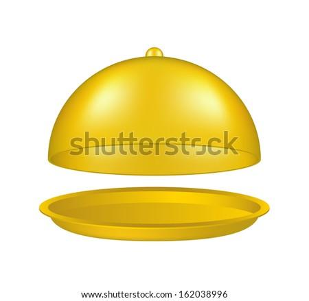 Open golden cloche - stock vector
