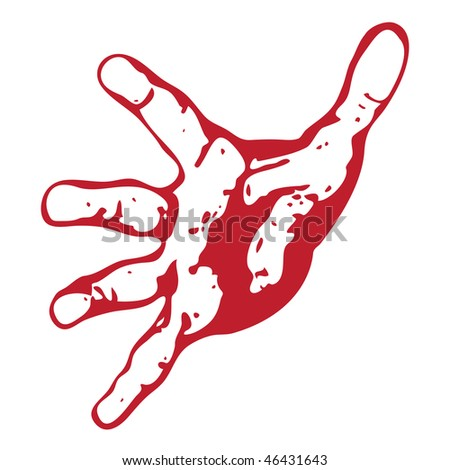 Open hand abstract vector