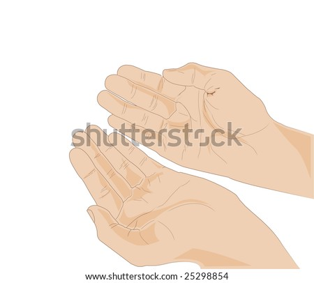 Open hands - stock vector