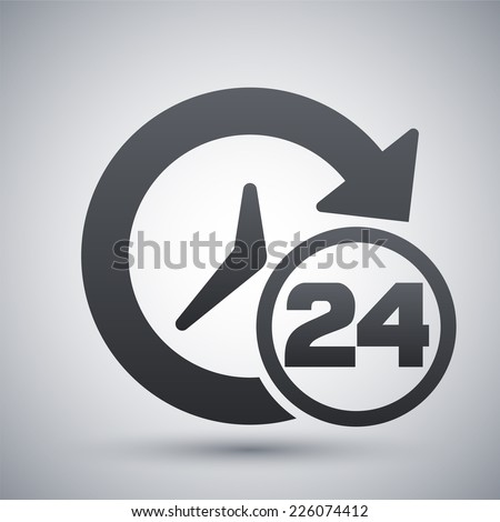 Open hours icon, vector - stock vector