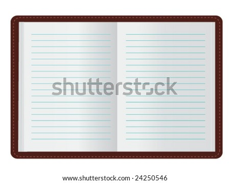 Open Journal (JPG and Vector versions of this file both available in my portfolio) - stock vector