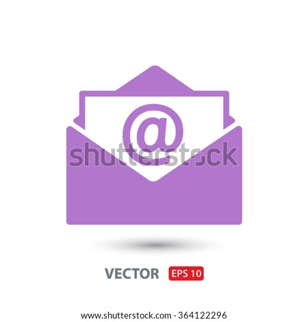 Open mail icon. One of set web icons - stock vector