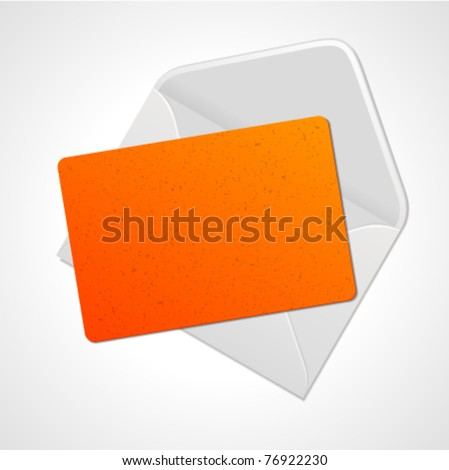Open mail with card vector illustration. Eps 10. - stock vector