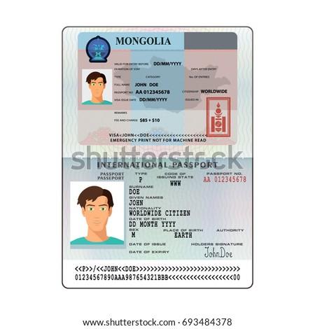 Open mongolia international passport visa sticker stock vector hd open mongolia international passport visa sticker template in flat style vector eps10 thecheapjerseys Image collections