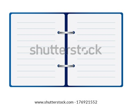 open notebook vector - stock vector