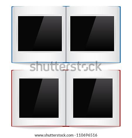 Open photo albums, vector eps10 illustration - stock vector