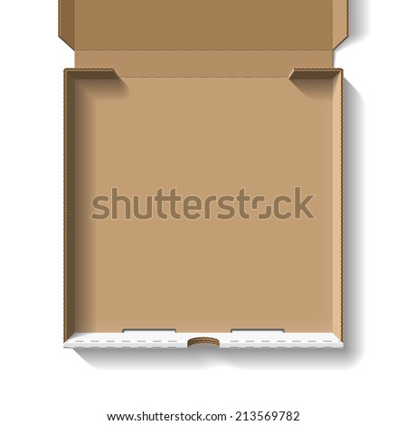 Open pizza box. Vector. - stock vector