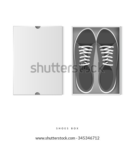 Open shoe box top on white background vector - stock vector