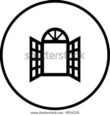 Tischler Zeichen open window symbol stock vektorgrafik 4816228