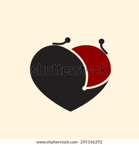 open your heart and purse emotional spending or donation concept - stock vector
