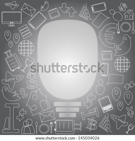 Open your Lamp ,Vector cartoon business