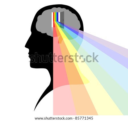 Open your mind - stock vector