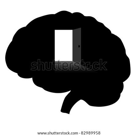 Open your mind. Vector - stock vector