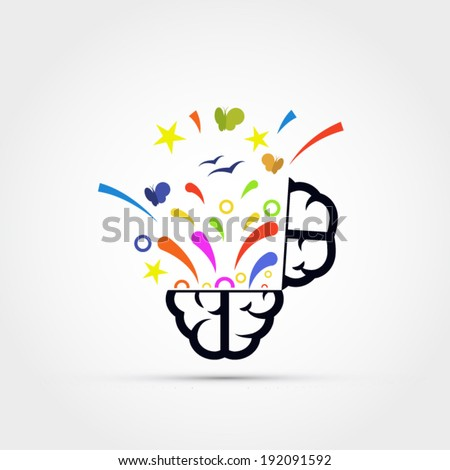 Open your mind vector illustration - stock vector