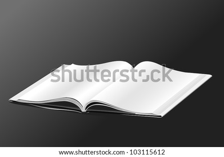 Opened book template - stock vector