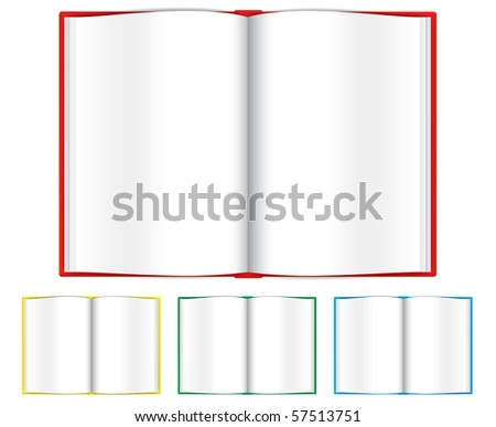 Opened books - stock vector