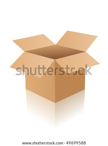 Opened box - stock vector