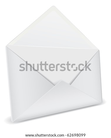 opened envelope detailed icon - stock vector