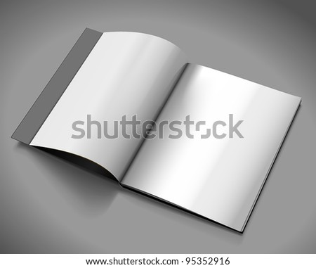 Opened magazine template - stock vector