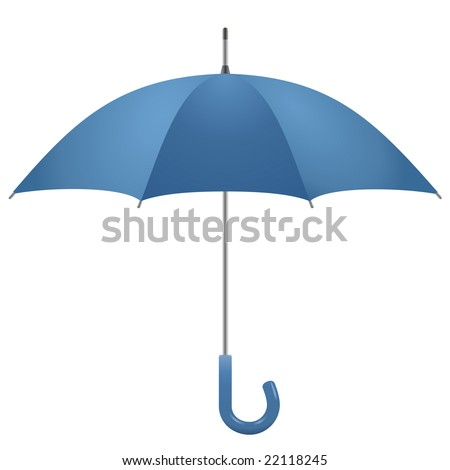 Opened umbrella, vector - stock vector