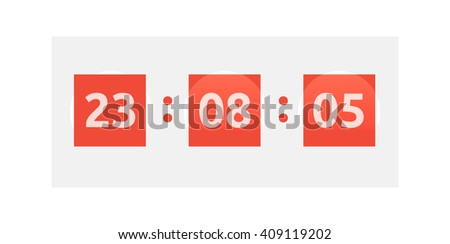 Opening soon. Big sale countdown timer and scoreboard numbers. Time clock - stock vector