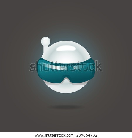 Operator robot fancy cartoon icon. Vector illustration - stock vector
