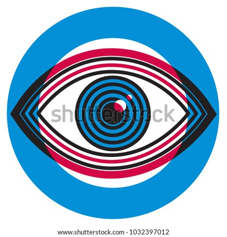 Ophthalmology abstract illustration. Human eye vector icon design, geometric style design. Medical illustration for cover, advertisement, poster design.