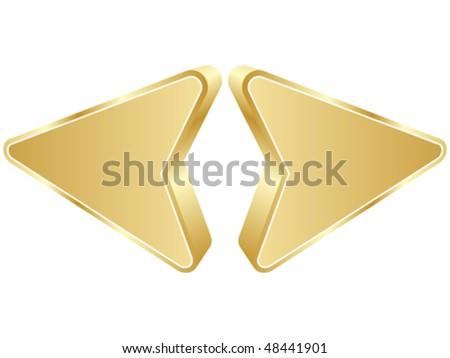 Opposite arrow - stock vector