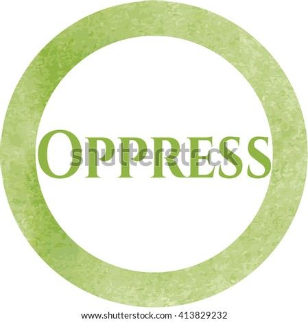 Oppress watercolor style - stock vector