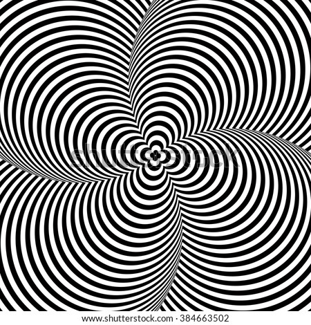 Opt Art Illustration isolated on white background for your design. Optical Illusion. Abstract background. Use for cards, invitation, wallpapers, pattern fills, web pages elements and etc. - stock vector