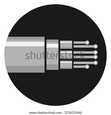Optic cable icon - stock vector