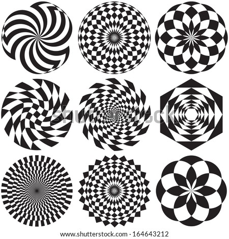Optical Art - stock vector