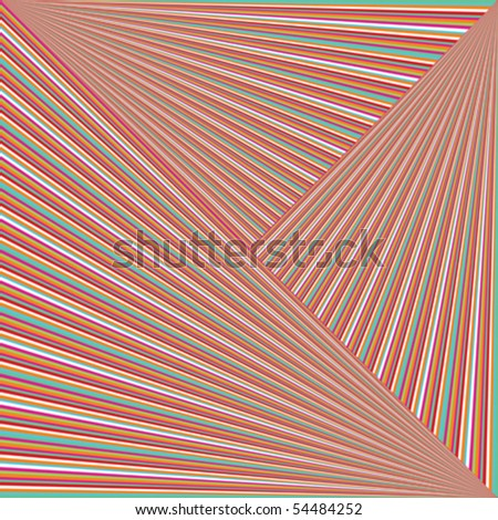 Optical effect with abstract colored stripes - stock vector