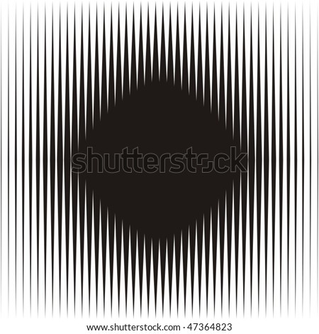 Optical illusion - stock vector