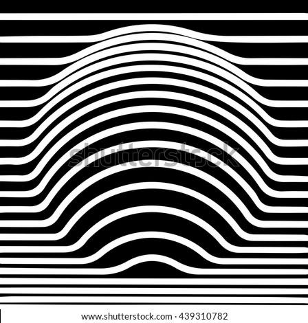 Optical illusion circle, vector - stock vector