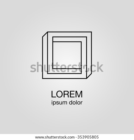 Optical Illusion Logo Template Vector Stock Vector ...  Optical Illusion Logo