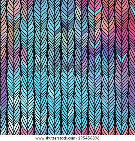 Optical illusion: Multicolor abstract seamless pattern. Texture of wavy vertical stripes. Stylish abstract background.  - stock vector