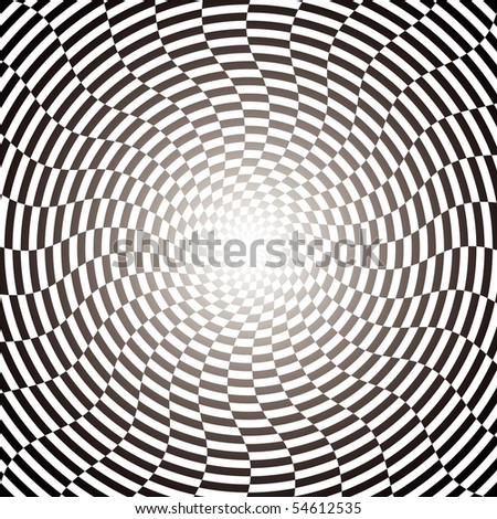 Optical illusion wallpaper - stock vector
