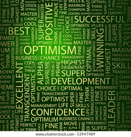 OPTIMISM. Word collage. Vector illustration. - stock vector