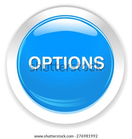 Option button - stock vector