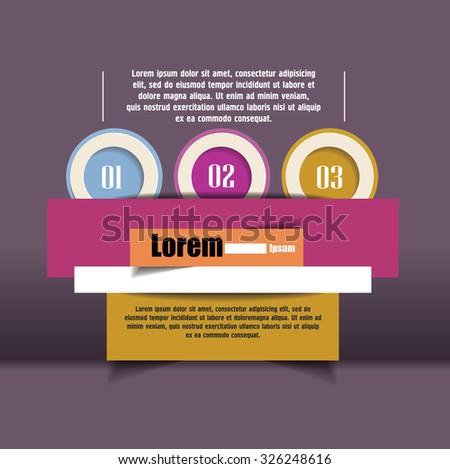 options number banner design. Vector illustration modern template design. Cutout lines. origami design - stock vector