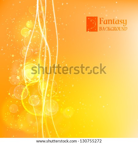 Orange abstract background. Vector illustration, contains transparencies, gradients and effects. - stock vector