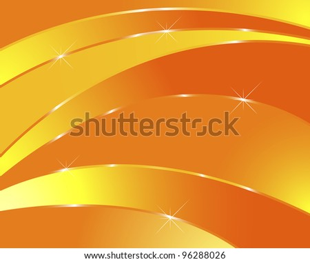 Orange abstract background with light. Vector illustration.