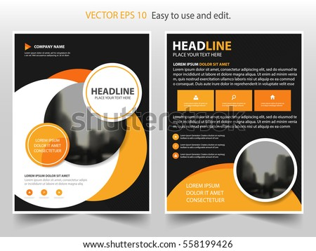 circle brochure template - abstract vector modern flyers brochure annual stock vector
