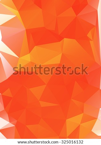 Orange and Red Polygonal Mosaic Background. Vector illustration, Creative Business Design Templates  - stock vector