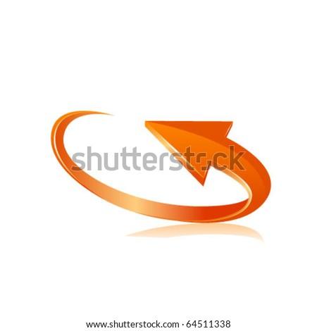 Orange arrow. Vector - stock vector