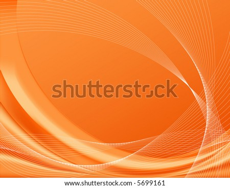 Orange background, complete with wire frames; perfect for templates Note: The vector file contains gradient meshes only editable in Adobe Illustrator. - stock vector