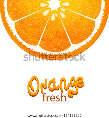 orange background vector - stock vector