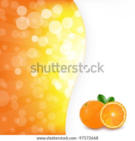 Orange Background With Orange, Vector Illustration - stock vector